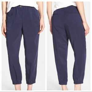Eileen Fisher Tencel Twill Tapered Crop Pants Blue